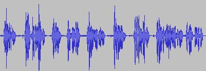 Darstellung einer Audioaufnahme